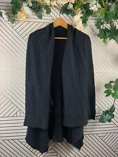 All Saints Cava Cardigan Gray Wool Drape Cold Shoulder Size Small