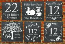 welsh Personalised Slate Door Gate Plaque gift name plate Sign christmas