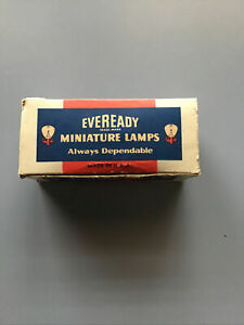 Box Of 10 Vintage Eveready Miniature Lamps Number 63 Automotive License Marker