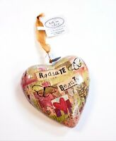 "Radiate Beauty 4"" Decorative Heart Ornament Bloom by Kelly Rae Roberts Demdaco"