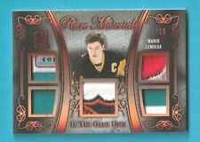 2017 18 In The Game Used MARIO LEMIEUX RARE MATERIALS SHIELD , TAG, PATCH /15