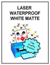 LASER WATERPROOF Adhesive Decal Paper - 1 Sheet MATTE WHITE