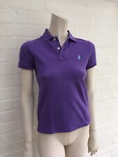 Ralph Lauren Polo The Skinny Polo Purple T-shirt Top Size S Small