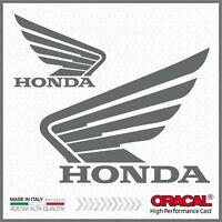 2x Adesivi HONDA ala Grigio compatibile con NC700-750X VFR1200X CB500F CRF1000L