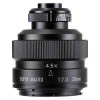 Zhongyi Mitakon 20mm f/2 4.5X Super Macro Lens for Pentax K mount camera
