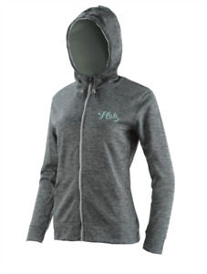 Huk Ladies Full Zip Light Grey Fleece Large