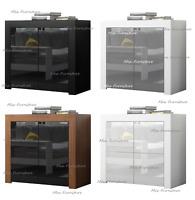 Modern Cabinet Cupboard sideboard Display Unit - Matt Body and High Gloss Doors