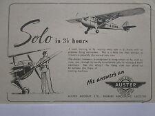 5/47 PUB AUSTER STEEL AEROPLANE AIRCRAFT AVION TRAINER ARMY ORIGINAL AD