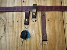 Leather Belt Loop Key Ring fob
