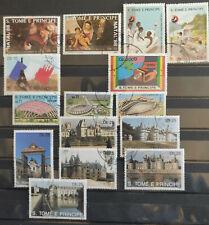 Sao Tome and Principe 1988-91 15 stamp selection CTO