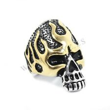 Anillo de Acero Inoxidable Calavera Bicolor 38 x 25mm Ø20mm