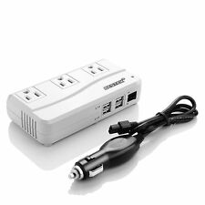 BESTEK 200W DC to AC Power Inverter 4 USB & 3 Outlet Car Power Converter Adapter