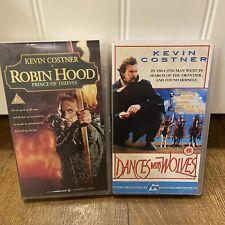 Dances With Wolves - Robin Hood( Sealed ) Kevin Costner VHS COLLECTION