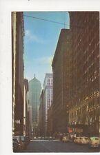 LaSalle Street Chicago USA Vintage Postcard 712a