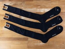 CANALI 3 pairs over the calf navy blue ribbed cotton socks - Size 13 - NWT