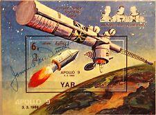 Yemen Yemen y.a.r 1969 blocco 103 Apollo 9 space flight A. McDivitt Autograph MNH