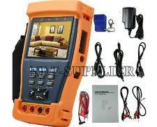 "New 10 in 1 Stest-894 3.5"" LCD Monitor CCTV Camera PTZ Tester Multimeter 12V 1A"