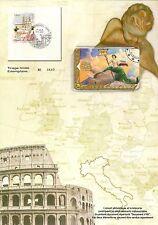 ENCART PHILATELIQUE ET TELECARTE CAPITALES EUROPEENNES ITALIE ROME