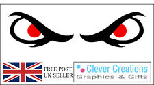EVIL EYES Vinyl Sticker / Decal - 1 off Pair for Car Bike or Helmet, FREE P&P UK