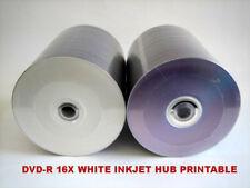 200 Pcs DVD-R DVDR 16X 4.7GB White Inkjet Hub Printable Recordable Disc