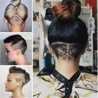 Hair Styling Tattoo Template Accessories Barber Tools DIY Salon Stencil