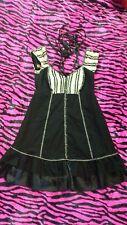 Lip Service Blacklist Goth Mini Dress Punk Steampunk Renaissance S Small rare
