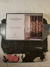 Floral Shower Curtain - Threshold Charcoal