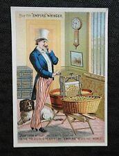 1880s EMPIRE WRINGER CLOTHES WASHING MACHINE UNCLE SAM J L HUDSON SPRINGFIELD IL