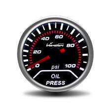 "Universal 2"" 52mm Digital LED Electronic Oil Pressure Gauge 0~100 pis white"