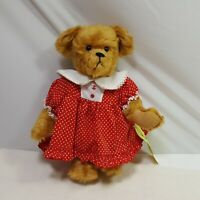 Owassa Bear Jenny Krantz Maria 26 of 300 1990 Red Dress Jointed Mohair Plush