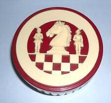 ideal gift small European German chess pieces vintage retro celluloid Bakelite?