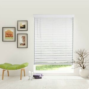 Bravada Select 2 Inch Cordless Faux Wood Blinds, White