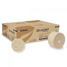 12 Ro. Lucart Eco Natural 900 ID Toilettenpapier Jumbo 2-lag. f. Autocut Spender