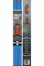"""New listing 4 Pack Twist Cable Ties - 17"""" (43cm) Heavy Duty Reusable Foam Coated Wire For St"""