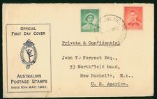 Mayfairstamps Australia FDC 1937 King George VI and Queen Elizabeth First Day Co
