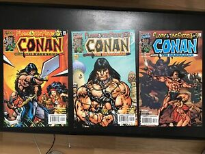 Conan The Barbarian: The Flame & The Fiend #1-3 Complete Set Marvel Comics 2000