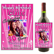 Personalised Wine Champagne Bottle Label N24 ~ 18th 21st 30th Birthday Gift