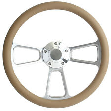 1968 1969 Dodge - Plymouth Tan & Billet Steering Wheel, Full Install Kit, Horn