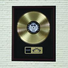 "AC/DC Black Ice Framed Cherry Wood  LP Record Display ""M4"""