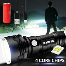 100000lm Super hell Taschenlampe LED P70  USB Taktisches Fackel Batterie Zoom