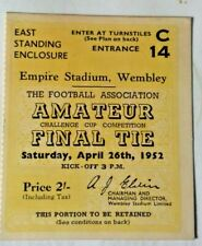More details for leyton v walthamstow ave. f.a. amateur cup final match ticket 26/4/1952 wembley.