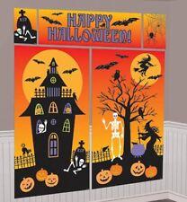 Gigante Happy Halloween Decoración de Pared Escena Setter Decoraciones De Halloween Kit 401