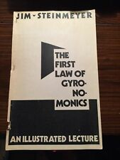 The First Law Of Gyronomonics Jim Steinmeyer Illustrated Lecture Magic Rare
