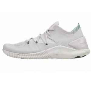 NEW Nike Free TR Flyknit 3 AMP Training Shoes AA1212 003 Sz 8 Pure Platinum Grn
