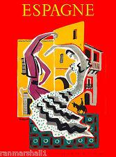 Espagne Spain Spanish Europe European Vintage Travel Advertisement Art Poster