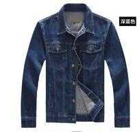 Men's Fashion Jean Retro Vintage Denim Jacket Coat Casual Outwear Jacket Plus SZ