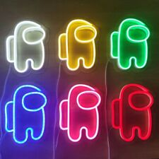 LED Neon Light Sign Game Among Us Astronaut Neon Wall Lights Night Lamp for Room