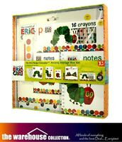 The Very Hungry Caterpillar Activity Storage Box Set Crayons Note Books Paint