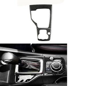 For Mazda 3 Axela 2013-2016 Carbon Fiber Inner Gear Shift Panel Frame Cover Trim