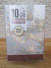 LED 10er Lichterkette warm White für innen ca 130 cm  mit Schalter  Deko Advent